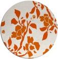 rug #742389 | round red-orange rug