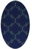 rug #743209 | oval blue-green rug