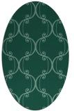 rug #743235 | oval damask rug