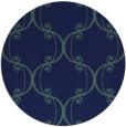 rug #743913   round blue-green rug