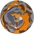rug #747749   round light-orange rug