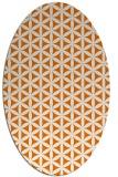 rug #757449 | oval orange rug