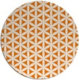 rug #758153 | round orange rug