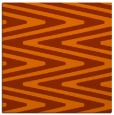 rug #758921 | square red-orange rug