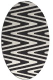 rug #759023 | oval stripes rug
