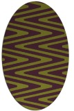 rug #759245 | oval green rug