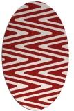 rug #759265 | oval red rug