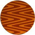 rug #759977 | round red-orange rug