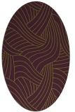 rug #764517 | oval green rug