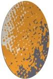 rug #768145 | oval light-orange rug