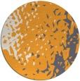 rug #768849 | round light-orange rug