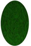 rug #769625 | oval green rug