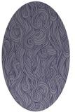 rug #769645 | oval blue-violet rug