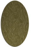 rug #769889 | oval light-green rug