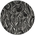 rug #770265 | round black abstract rug