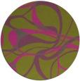 rug #772349 | round light-green rug