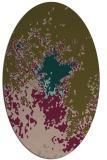 rug #773197 | oval brown rug