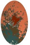 rug #773273 | oval orange rug