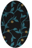 rug #776617 | oval mid-brown rug