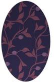 rug #776693 | oval blue-violet rug