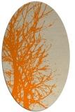 rug #783485 | oval orange rug