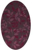 rug #783855 | oval purple rug