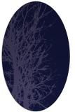 rug #789060 | oval blue-violet rug