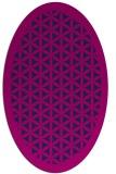 rug #811535 | oval pink rug