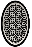 rug #842016 | oval borders rug