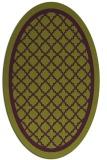 rug #857823 | oval purple rug