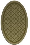 rug #857927 | oval light-green rug