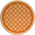 rug #858527 | round red-orange rug