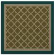 rug #862415   square mid-brown rug