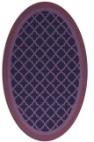 rug #862735 | oval purple rug