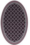 rug #862871 | oval purple rug