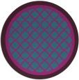 rug #863391 | round blue-green rug
