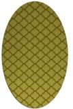 rug #880507 | oval light-green rug