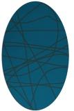 rug #882015   oval blue rug