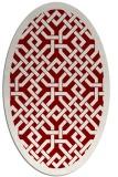 rug #885665 | oval borders rug