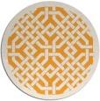 rug #886519   round light-orange rug