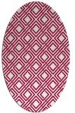 rug #887915 | oval check rug