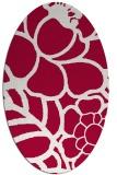 rug #888460 | oval red rug