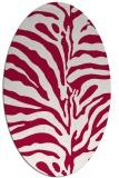 rug #889000 | oval red rug