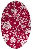 rug #890060 | oval red rug