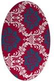 rug #892640 | oval damask rug