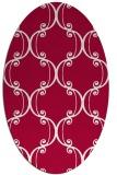 rug #894080 | oval red rug