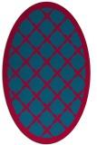 rug #895120 | oval borders rug