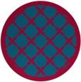 rug #895128 | round blue-green rug