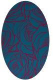 rug #896745 | oval blue-green rug