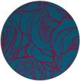 rug #896753   round blue-green rug